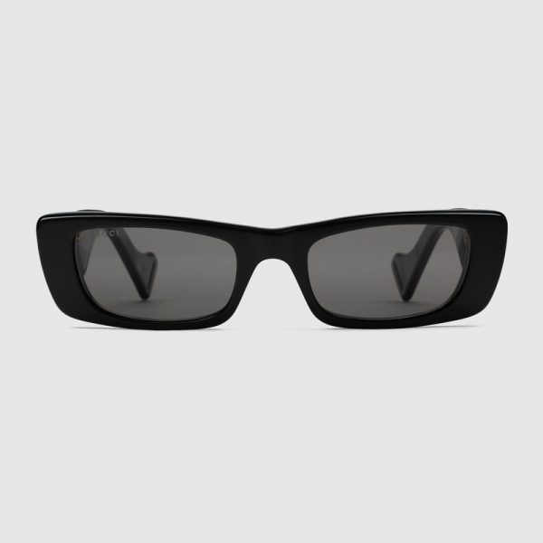 Light-Rectangular-sunglasses Black
